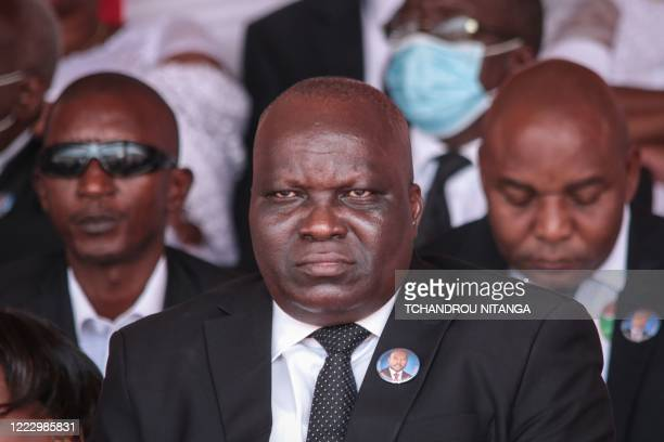 Pascal Nyabenda President of Burundi's national assembly attends the national funeral of late Burundi President Pierre Nkurunziza who died at the age...