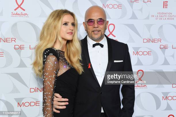 Pascal Obispo and his wife Julie Hantson attend the 17th Diner De La Mode as part of Paris Fashion Week on January 24 2019 in Paris France