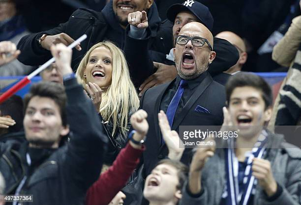 Pascal Obispo and his wife Julie Hantson attend the international friendly match between France and Germany at Stade de France on November 13 2015 in...