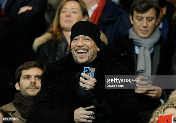 Pascal Obispo attends the French Ligue 1 between Paris SaintGermain FC and LOSC Lille FC at Parc Des Princes on december 22 2013 in Paris France