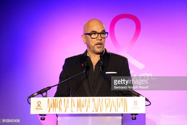 Pascal Obispo presents the 16th Sidaction as part of Paris Fashion Week on January 25 2018 in Paris France