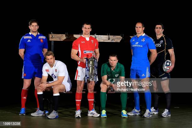 Pascal Pape of France Chris Robshaw of England Sam Warburton of Wales Jamie Heaslip of Ireland Sergio Parisse of Italy and Kelly Brown of Scotland...