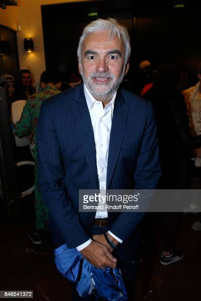 Pascal Praud 'On refait le match' on RTL attends the RTL RTL2 Fun Radio Press Conference to announce their TV Schedule for 2017/2018 at Elysee...
