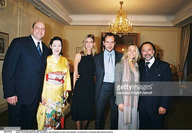 Pascal Renouard De Valliere his wife Kyo Sally Woodford her husband Nicolas Brochet Olivier Dassault and his wife Lebanese party at the Bristol