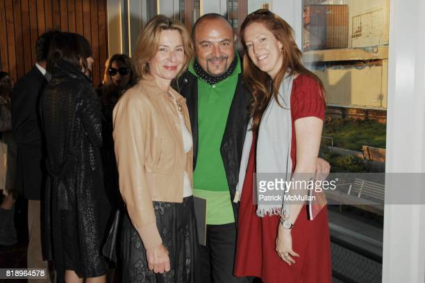 Pascal Richard Bernard Aidan and Andrea Douzet attend 2010 PRATT Institute Honors Catherine Malandrino After Party at Highline Room on May 13 2010 in...