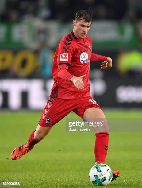 Pascal Stenzel of Freiburg in action during the Bundesliga match between VfL Wolfsburg and SportClub Freiburg at Volkswagen Arena on November 18 2017...
