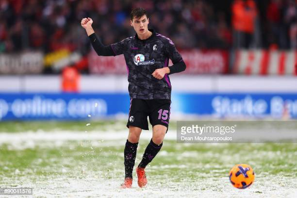 Pascal Stenzel of SC Freiburg in action during the Bundesliga match between 1 FC Koeln and SportClub Freiburg at RheinEnergieStadion on December 10...