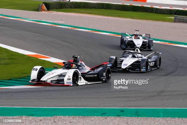 Pascal , TAG Heuer Porsche Formula E Team, Porsche 99X Electric, action, 48 MORTARA Edoardo , ROKiT Venturi Racing, Mercedes-Benz EQ Silver Arrow 02,...