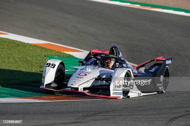 Pascal , TAG Heuer Porsche Formula E Team, Porsche 99X Electric, action during the ABB Formula E Championship official pre-season test at Circuit...