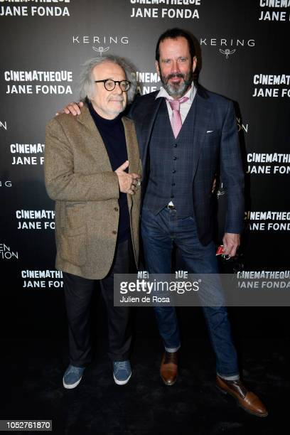 Pascal Thomas and Christian Vadim attend Kering Women In Motion Master Class With Jane Fonda at la cinematheque on October 22 2018 in Paris France