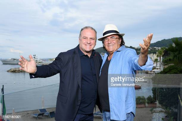 Pascal Vicedomini and Al Bano Carrisi attend 2019 Ischia Global Film Music Fest on July 15 2019 in Ischia Italy