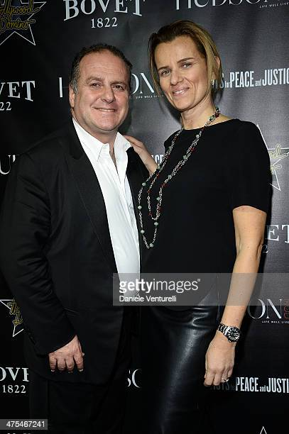 Pascal Vicedomini and Concetta Vicedomini attends the 7th Annual Hollywood Domino and Bovet 1822 Gala benefiting artists for peace and justice at...