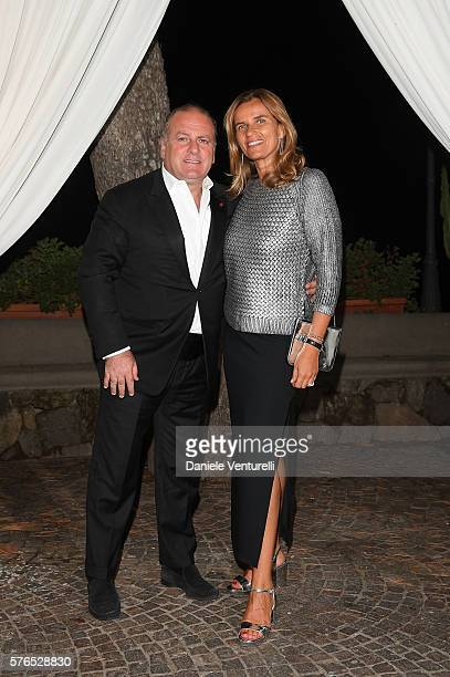 Pascal Vicedomini and Cosetta Vicedomini attend the 2016 Ischia Global Film Music Fest on July 15 2016 in Ischia Italy