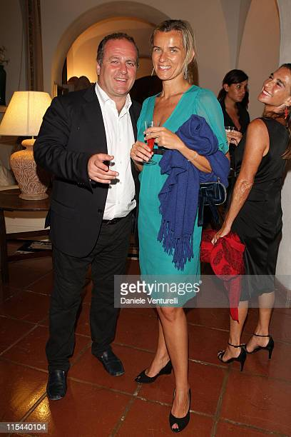 Pascal Vicedomini and his wife attend day five of the Ischia Global Film And Music Festival on July 20 2008 in Ischia Italy