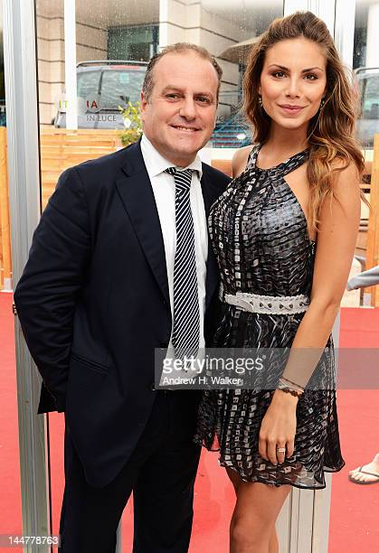 Pascal Vicedomini and Nina Senicar attend the Film Music Ischia Global Fest Presentation during the 65th Annual Cannes Film Festival at on May 19...