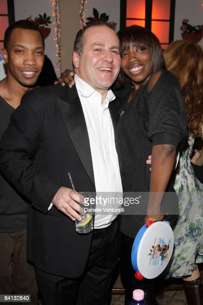 Pascal Vicedomini and Singer Estelle attends the second day of the 13th Annual Capri Hollywood International Film Festival on December 28, 2008 in...