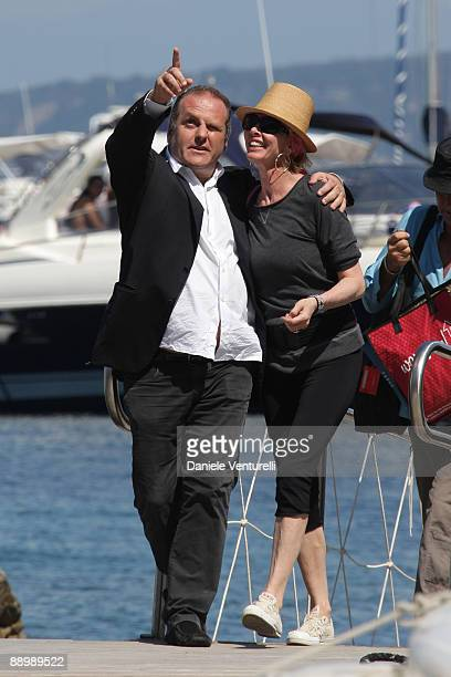 Pascal Vicedomini and Trudie Styler attend day one of the Ischia Global Film and Music Festival on July 12 2009 in Ischia Italy