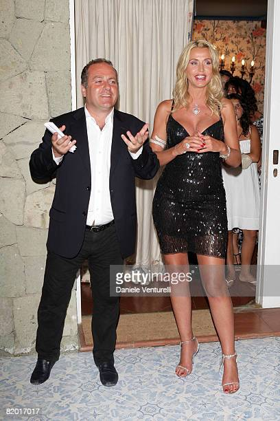 Pascal Vicedomini and Valeria Marini attend day five of the Ischia Global Film And Music Festival on July 20, 2008 in Ischia, Italy.