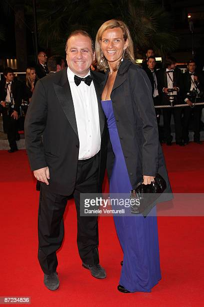 Pascal Vicedomini and wife Concetta attend the Fish Tank Premiere at the Grand Theatre Lumiere during the 62nd Annual Cannes Film Festival on May 14,...