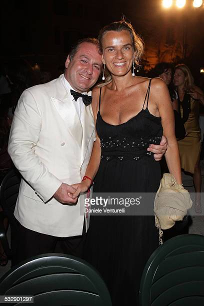 Pascal Vicedomini and with his wife attends day four of the Ischia Global Film And Music Festival on July 19 2008 in Ischia Italy
