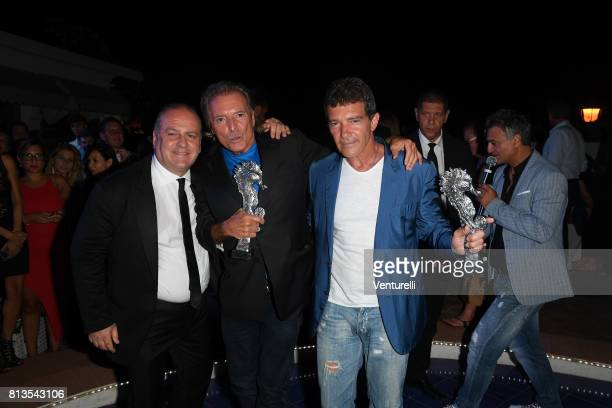 Pascal Vicedomini Armand Assante and Antonio Banderas attend 2017 Ischia Global Film Music Fest on July 12 2017 in Ischia Italy