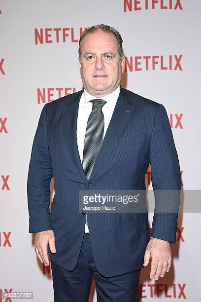 Pascal Vicedomini attends a red carpet for the Netflix launch at Palazzo Del Ghiaccio on October 22 2015 in Milan Italy