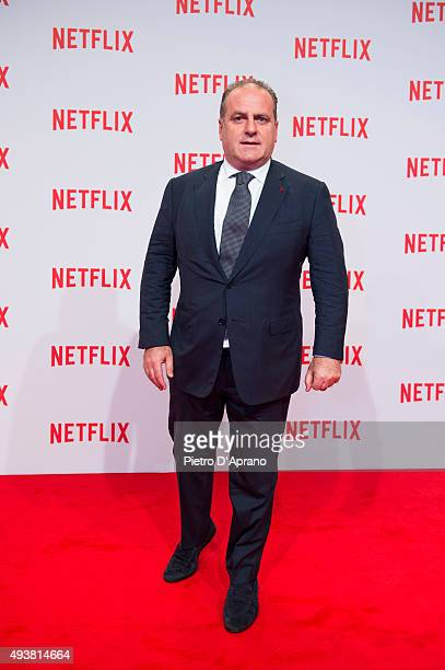Pascal Vicedomini attends the red carpet for the Netflix launch at Palazzo Del Ghiaccio on October 22 2015 in Milan Italy