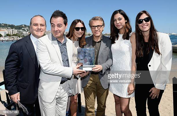 Pascal Vicedomini, Iginio Straffi, Elsa Zylberstein, Christoph Waltz, Moran Atias and Gisella Marengo attend the Ischia Global Fest 2013 Press...