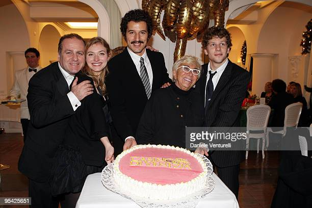 Pascal Vicedomini, Imogen Poots, Francesco Scianna, Lina Wertmuller and Jesse Eisenberg attend the first day of the 14th Annual Capri Hollywood...