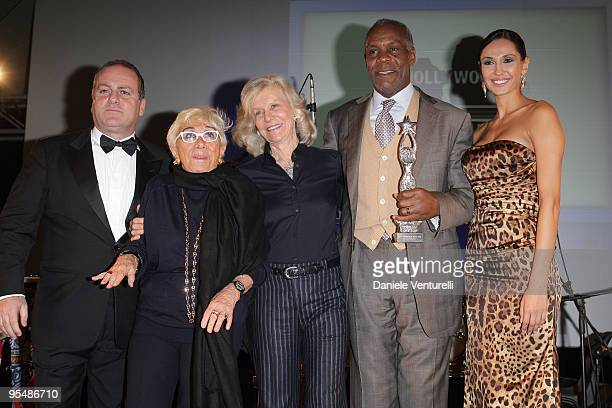 Pascal Vicedomini Lina Wertmuller Marina Cicogna Danny Glover and Eugenia Chernyshova attend the third day of the 14th Annual Capri Hollywood...