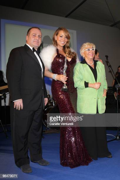 Pascal Vicedomini Mariah Carey and Lina Wertmuller attend the second day of the 14th Annual Capri Hollywood International Film Festival on December...