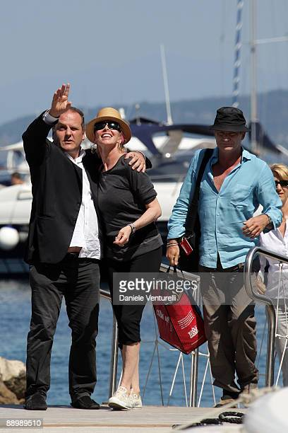 Pascal Vicedomini Trudie Styler and Sting attend day one of the Ischia Global Film and Music Festival on July 12 2009 in Ischia Italy