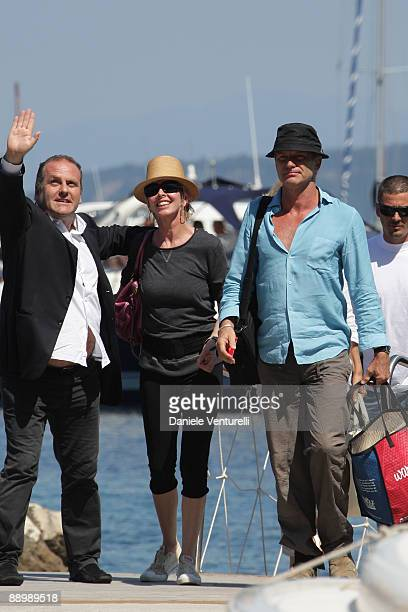 Pascal Vicedomini, Trudie Styler and Sting attend day one of the Ischia Global Film and Music Festival on July 12, 2009 in Ischia, Italy.