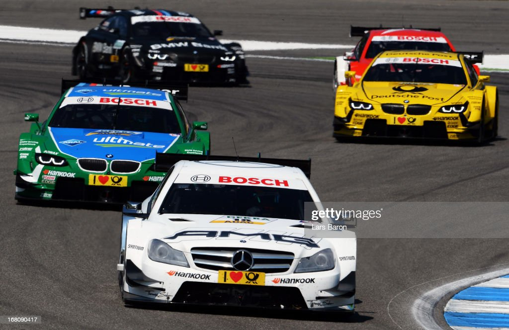 Pascal Wehrlein of Germany and Mercedes AMG drives during the first round of the DTM 2013 German Touring Car Championship at Hockenheimring on May 5, 2013 in Hockenheim, Germany.