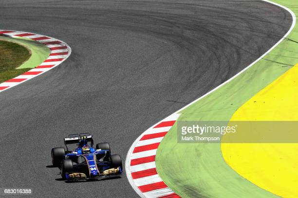 Pascal Wehrlein of Germany driving the Sauber F1 Team Sauber C36 Ferrari on track during the Spanish Formula One Grand Prix at Circuit de Catalunya...