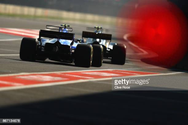Pascal Wehrlein of Germany driving the Sauber F1 Team Sauber C36 Ferrari on track during practice for the Formula One Grand Prix of Mexico at...