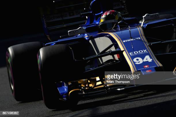 Pascal Wehrlein of Germany driving the Sauber F1 Team Sauber C36 Ferrari on track during final practice for the Formula One Grand Prix of Mexico at...