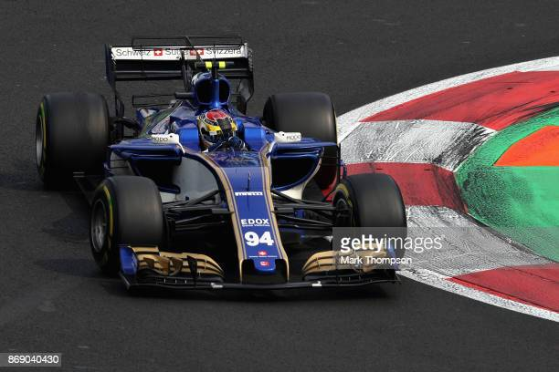 Pascal Wehrlein of Germany driving the Sauber F1 Team Sauber C36 Ferrari on track during the Formula One Grand Prix of Mexico at Autodromo Hermanos...