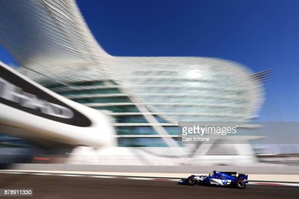 Pascal Wehrlein of Germany driving the Sauber F1 Team Sauber C36 Ferrari on track during final practice for the Abu Dhabi Formula One Grand Prix at...