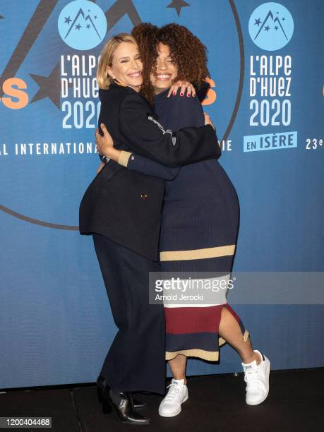 Pascale Arbillot and Stefi Celma attends the closing ceremony of the 23rd L'Alpe D'Huez International Comedy Film festival on January 18 2020 in Alpe...