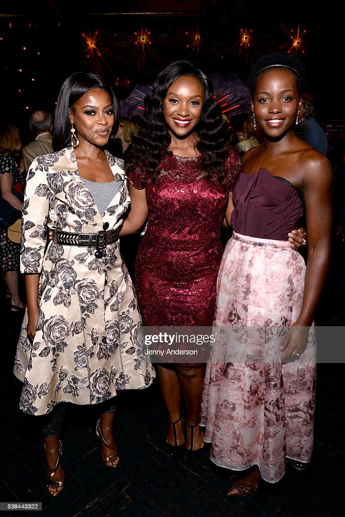 Pascale Armand, Saycon Sengbloh and Lupita Nyong'o attend the Tony Honors Cocktail Party presenting the 2016 Tony Honors For Excellence In The Theatre and honoring the 2016 Special Award recipients at Diamond Horseshoe on June 6, 2016 in New York City.