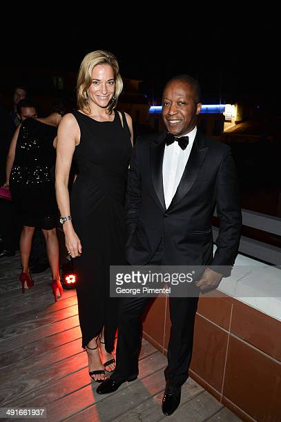 Pascale Bourbeau and Herby Moreau attend The Captive After Party At Silencio The 67th Annual Cannes Film Festival on May 16 2014 in Cannes France