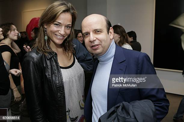 Pascale Bourbeau and Phillipe Ducheme attend In Full Bloom Exhibition of Photographs by Ron Agam at Tyler Rollins Fine Art on January 22 2009 in New...