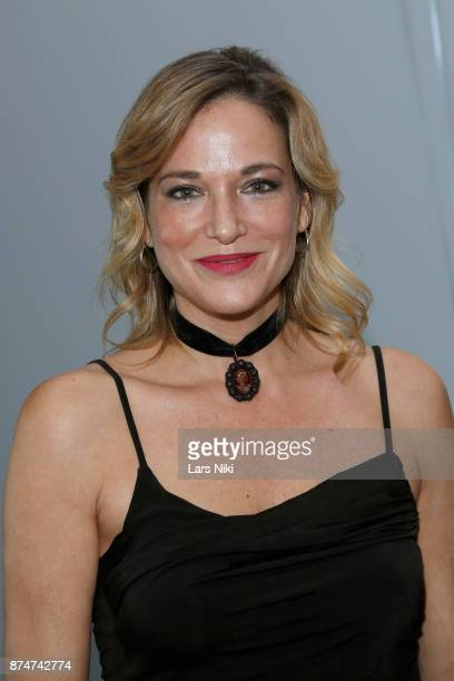 Pascale Bourbeau performs during the Blu Perfer Blue Brut Launch Party for The 2018 8th annual Better World Awards on November 15 2017 in New York...