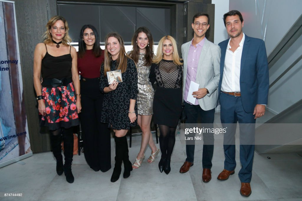 Pascale Bourbeau, Sara Barsoom, Lauren Randazzo, Jamie Watkins, Veronica Torres, Mark Ashamalla and Manuel Martinez attend the Blu Perfer & Blue Brut Launch Party for The 2018 8th annual Better World Awards on November 15, 2017 in New York City.