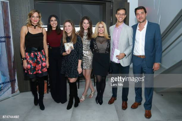 Pascale Bourbeau, Sara Barsoom, Lauren Randazzo, Jamie Watkins, Veronica Torres, Mark Ashamalla and Manuel Martinez attend the Blu Perfer & Blue Brut...