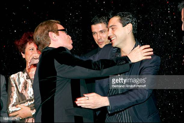 """Pascale Breugnot, Alessandro Gassman , Orlando and Arnaud Giovaninetti at """"Dalida"""" TV Film Tribute To The Singer."""
