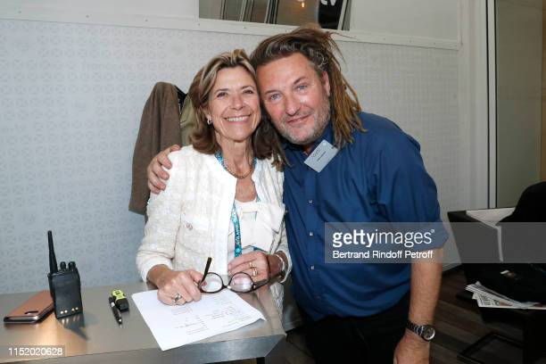 Pascale Ferrer and Olivier Delacroix attend the 'France Television' Lunch during the 2019 French Tennis Open Day Two at Roland Garros on May 27 2019...