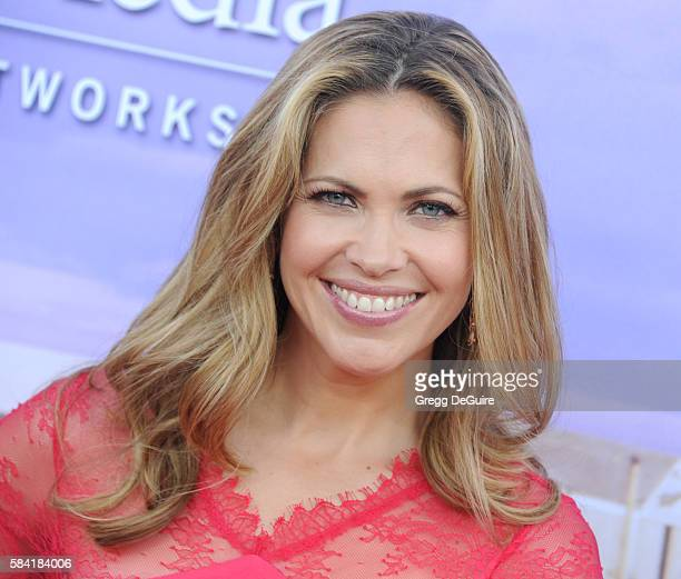 Pascale Hutton arrives at the Hallmark Channel and Hallmark Movies and Mysteries Summer 2016 TCA Press Tour Event on July 27 2016 in Beverly Hills...