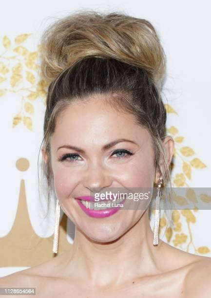 Pascale Hutton attends Hallmark Channel And Hallmark Movies And Mysteries 2019 Winter TCA Tour at Tournament House on February 09 2019 in Pasadena...